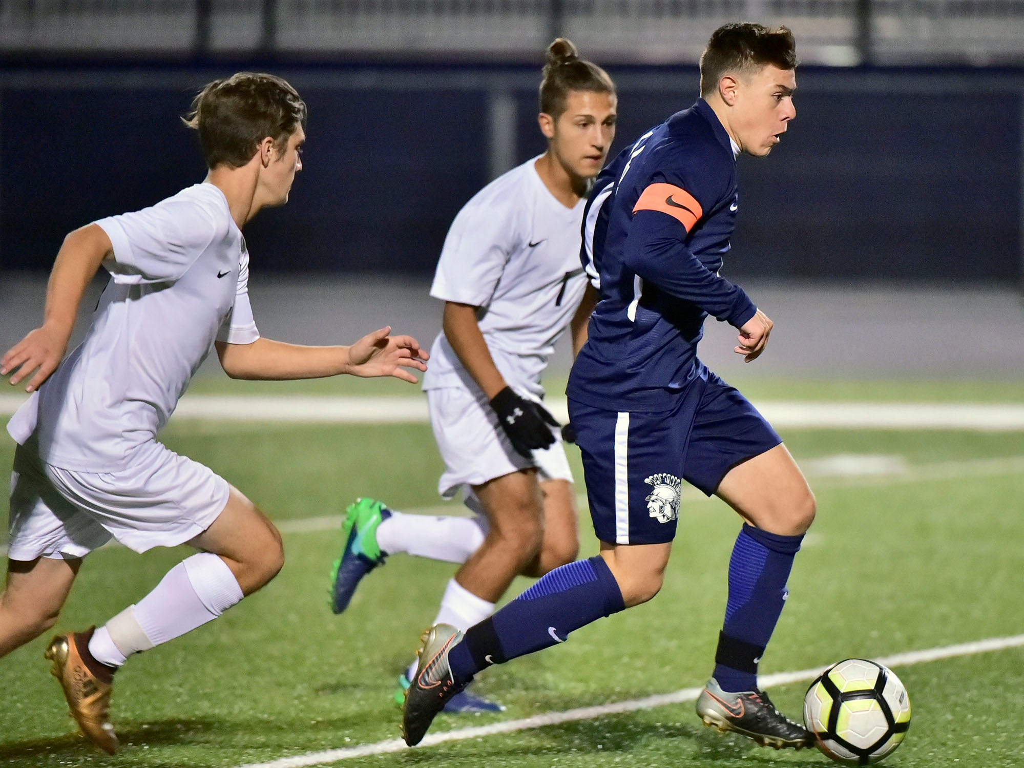 Chambersburg lost a first round D3 soccer match to Dallastown 2-1 on Tuesday, Oct. 23, 2018.