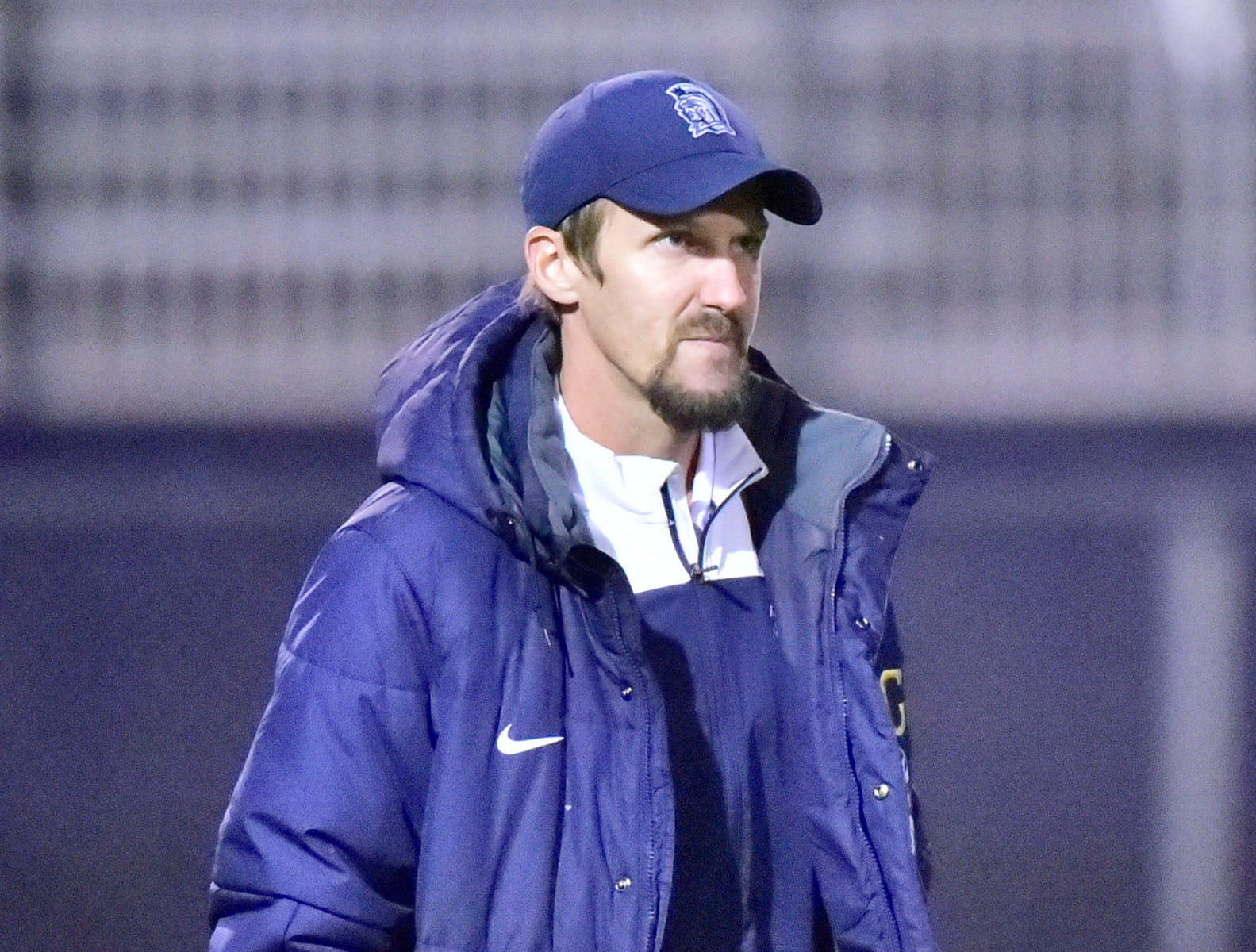 Chambersburg's Corey Grove coaches the Trojans. Chambersburg lost a first round D3 soccer match to Dallastown 2-1 on Tuesday, Oct. 23, 2018.