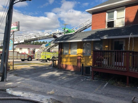 Crews responded to a fire at Sal's Pizza in Shrewsbury on Wednesday, Oct. 24. Photo courtesy of South County Fire Photos.