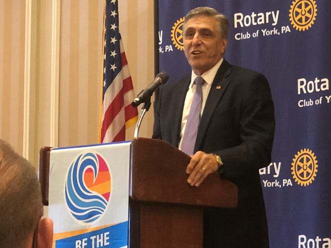 U.S. Rep. Lou Barletta, a four-term Republican congressman from Hazelton, is running to unseat U.S. Sen. Bob Casey, the Democratic incumbent, in the Nov. 6 midterm election. Barletta spoke to the Rotary Club of York during a lunch meeting Wednesday, Oct. 24.