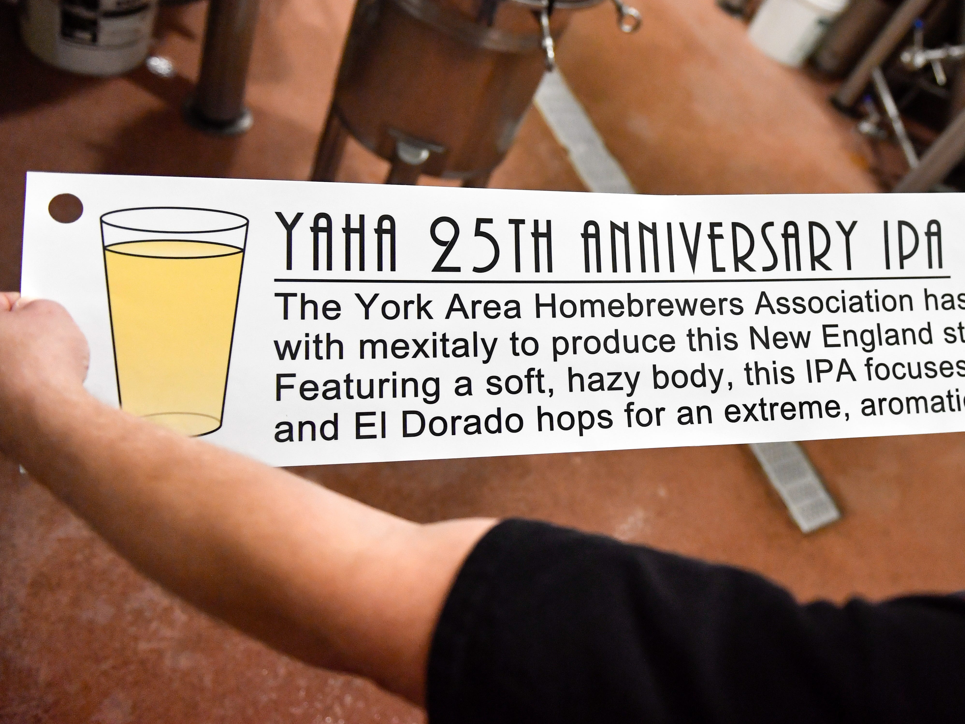 A 25th anniversary banner will be hung up once the New England style IPA is presented to the members of the York Area Homebrewers Association.