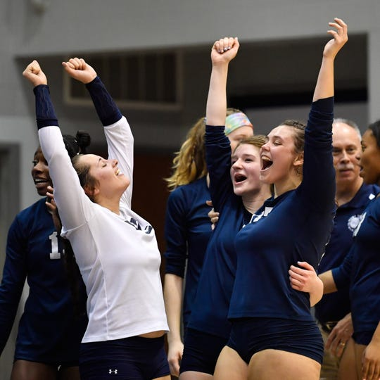 West York celebrates their 3-1 victory over Dover, Tuesday, October 23, 2018.