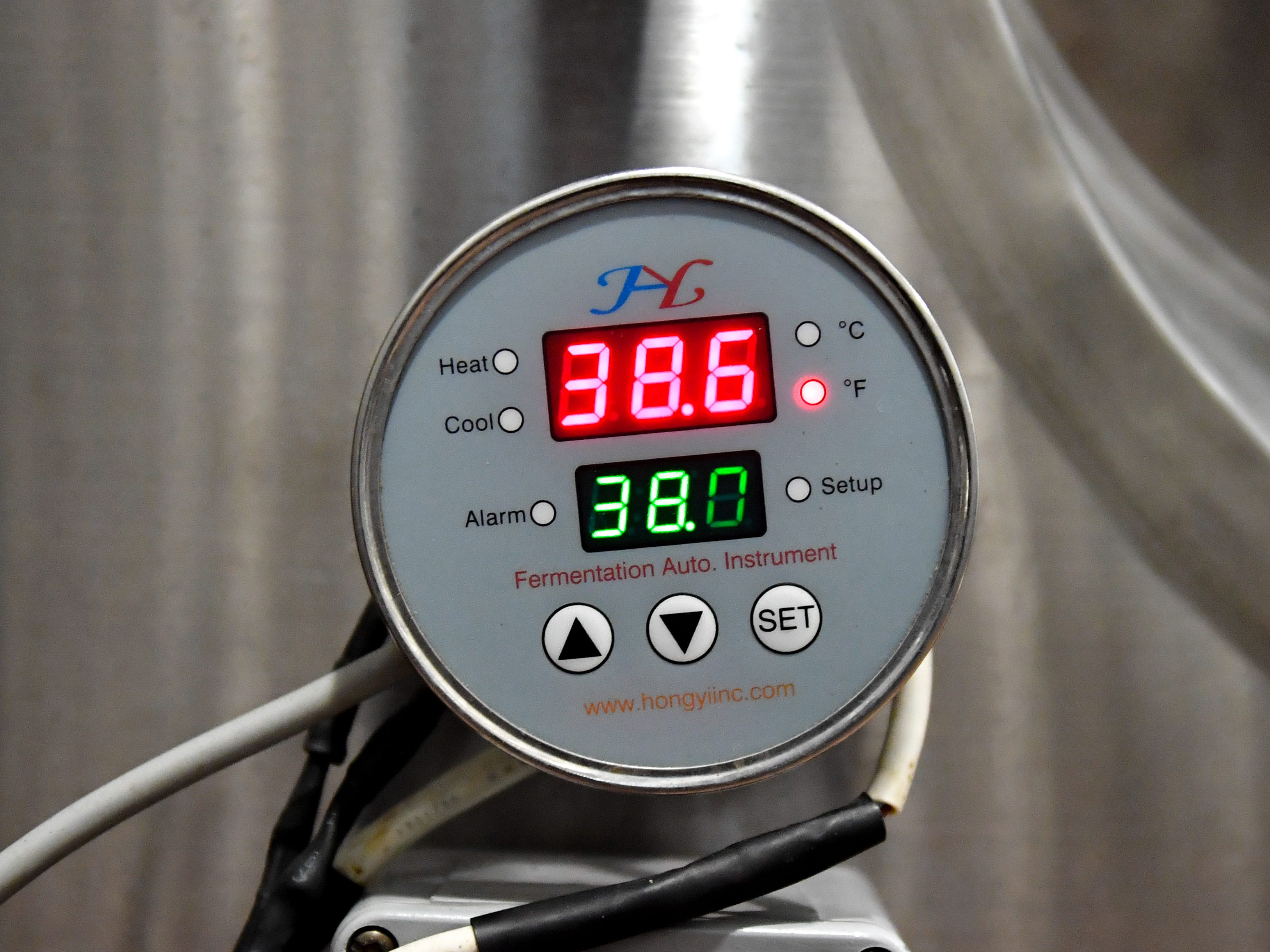 Each tank is temperature controlled so the beer inside can be made to perfection at the Mexitaly Brick oven Brewhouse, October 19, 2018.