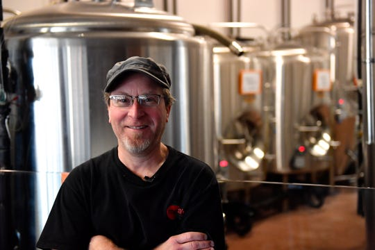Rick Kunkel is the lead brewer at Mexitaly Brick oven Brewhouse. He has been a York Area Homebrewers Association member for years and is brewing the groupÕs 25th-anniversary ale, October 19, 2018.