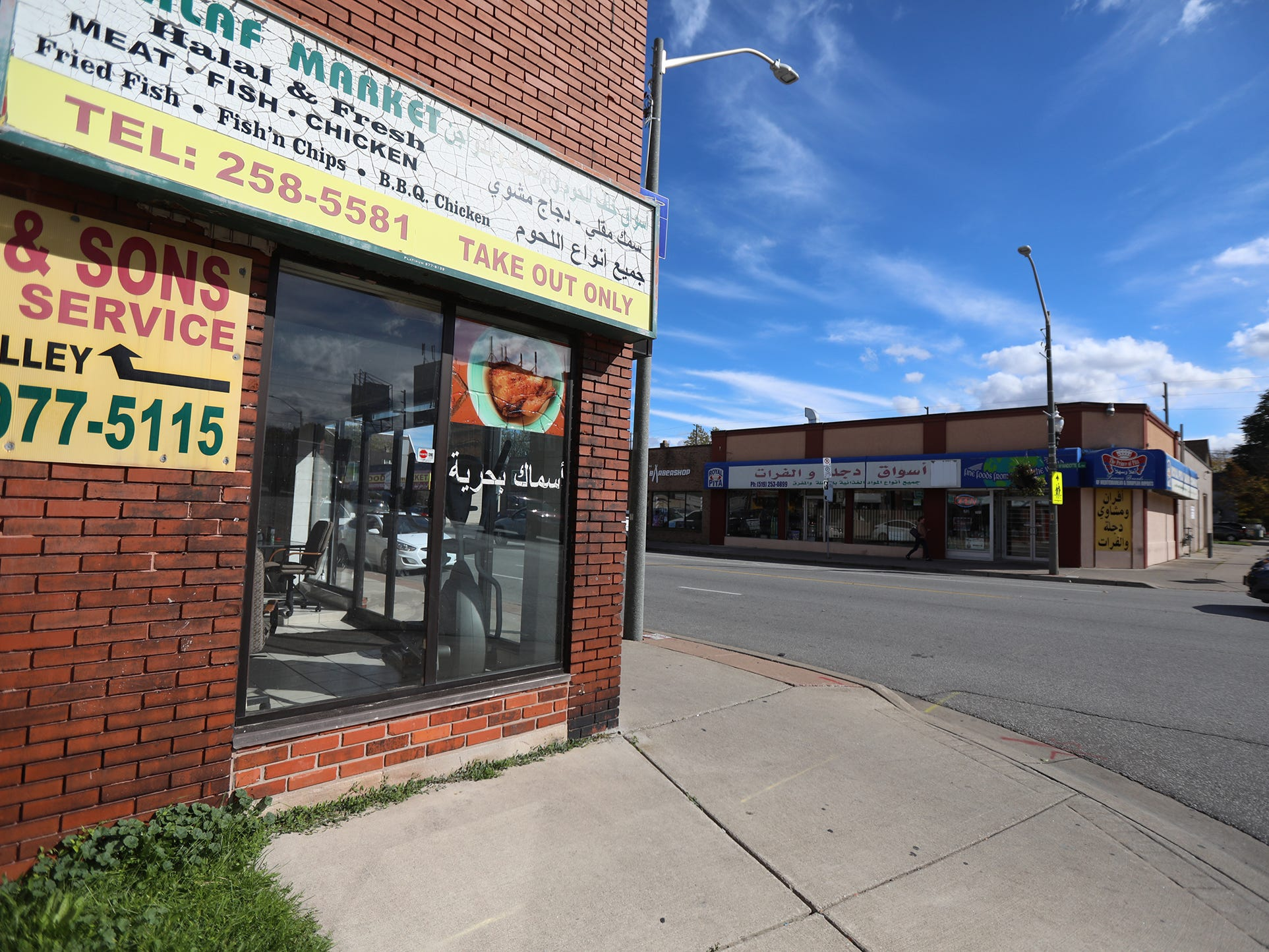 Windsor has a large Arabic speaking community, one area on Wynadotte St. E has a stretch of stores catering to that particular community,