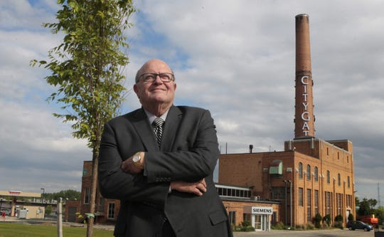 Developer Anthony J. Costello, chairman of the Costello Group, at the opening of City Gate in June 2015. He died in 2016 aged 78.