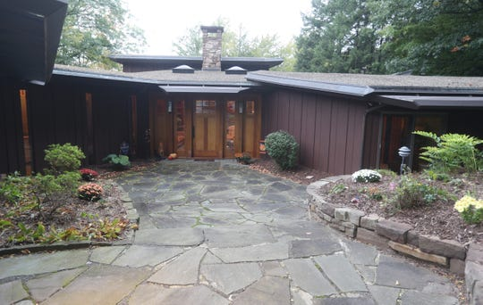 This house in Perinton was inspired by the designs by Frank Lloyd Wright.