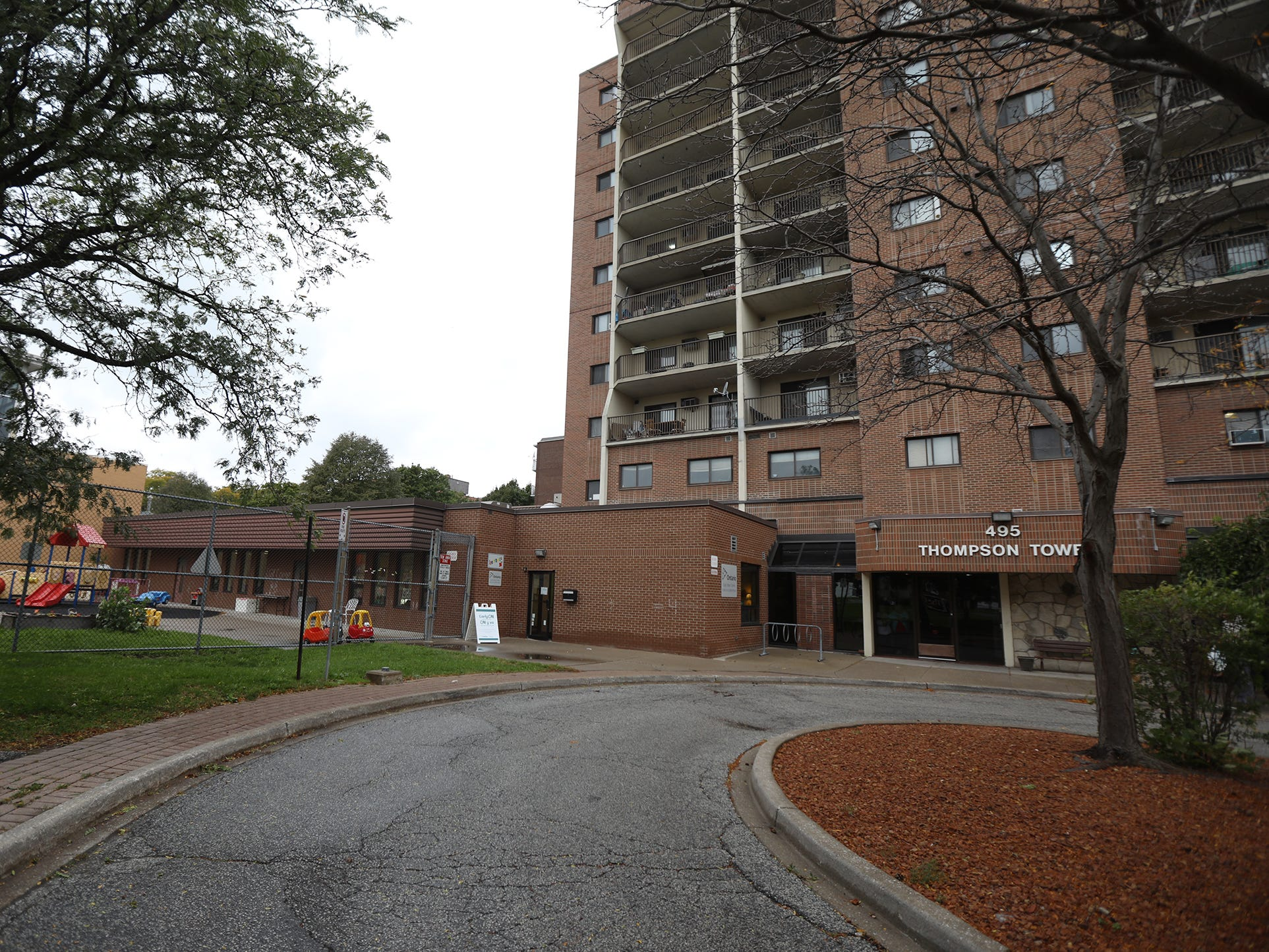 Glengarry EarlyON Child and Family Centre. in Windsor, Ontario, is sandwiched between a housing complex and a community center.
