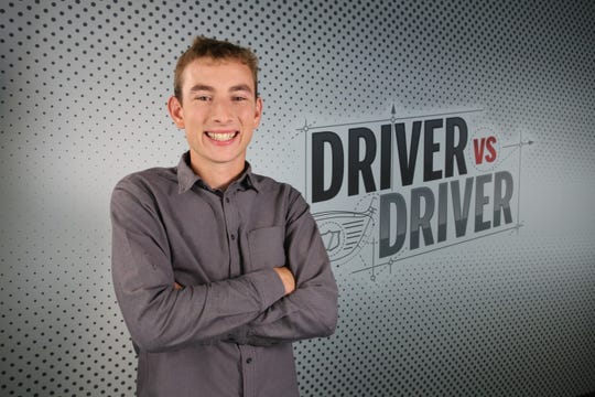 "Oregon State senior Tim Slama in a promotional photo for ""Driver vs. Driver 2"""