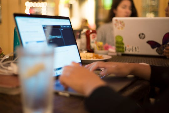 Girl Develop It chapter leads and chapter organizer host a Code and Coffee event for women who want to learn web programming and development at Portobellos in Salinas Oct. 17, 2018. GDI opened a Salinas/Monterey chapter this year to help women break into the tech industry.