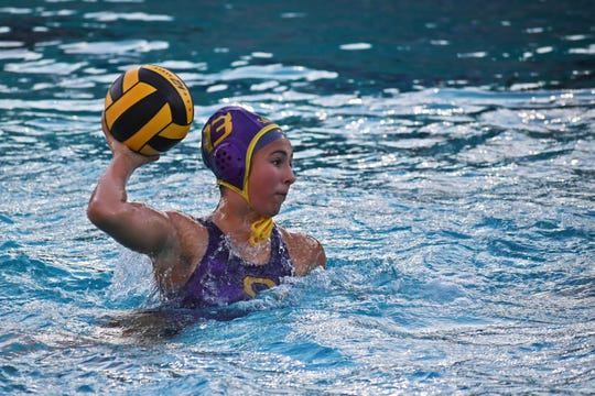 Junior Samantha Reich often sets up the Salinas attack in the pool and leads the team in both goals and assists.