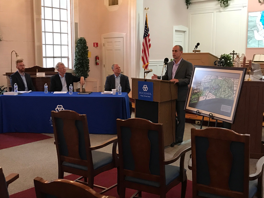 Aaron Hargett, executive director of Baptist Retirement Community, speaks at a press conference Wednesday, Oct. 24, 2018 to announce an $8.4 million renovation project.