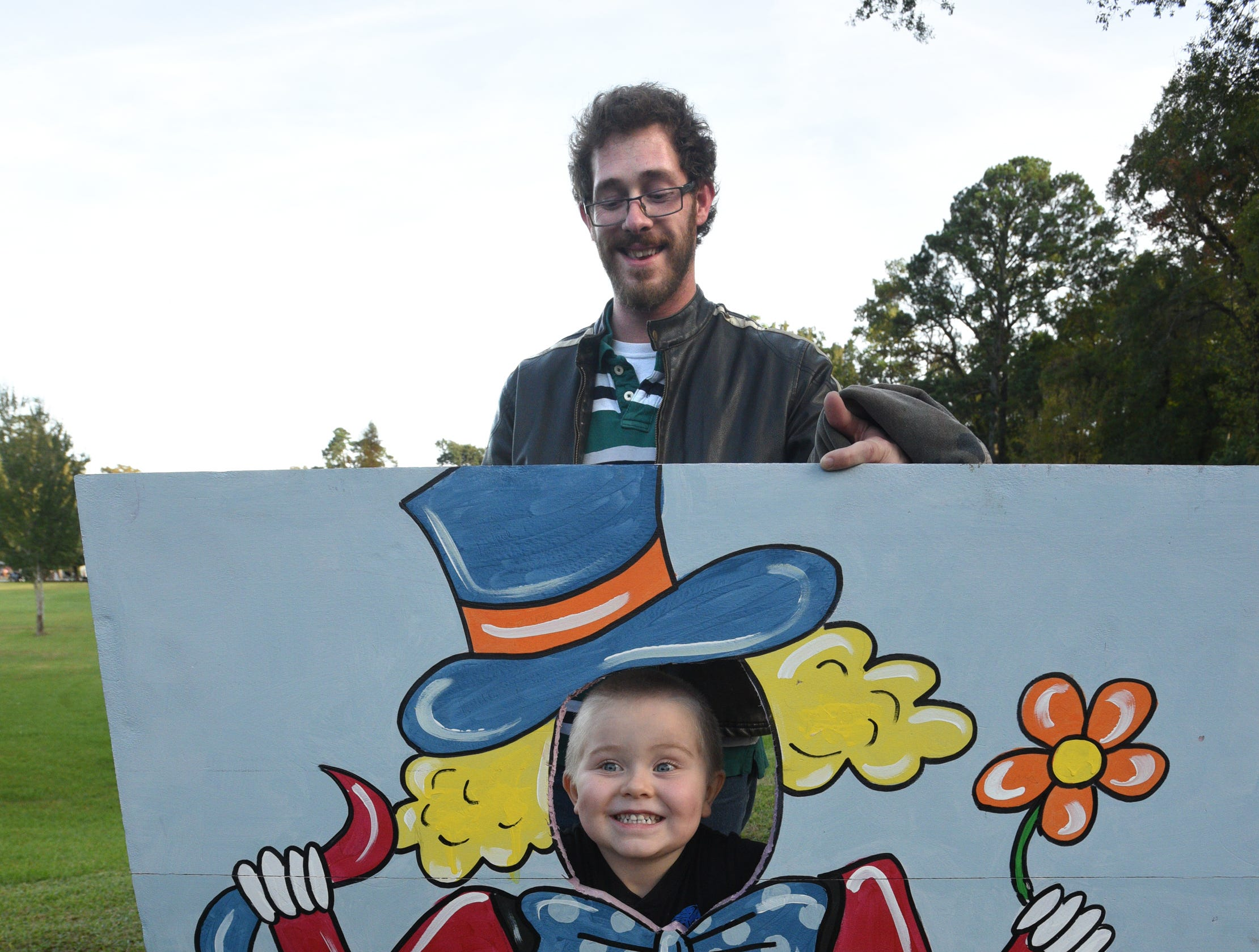 Sterling and Charles Axtens at the 26th Annual Punpkin Shine on Line held Tuesday at Betty Virginia Park.