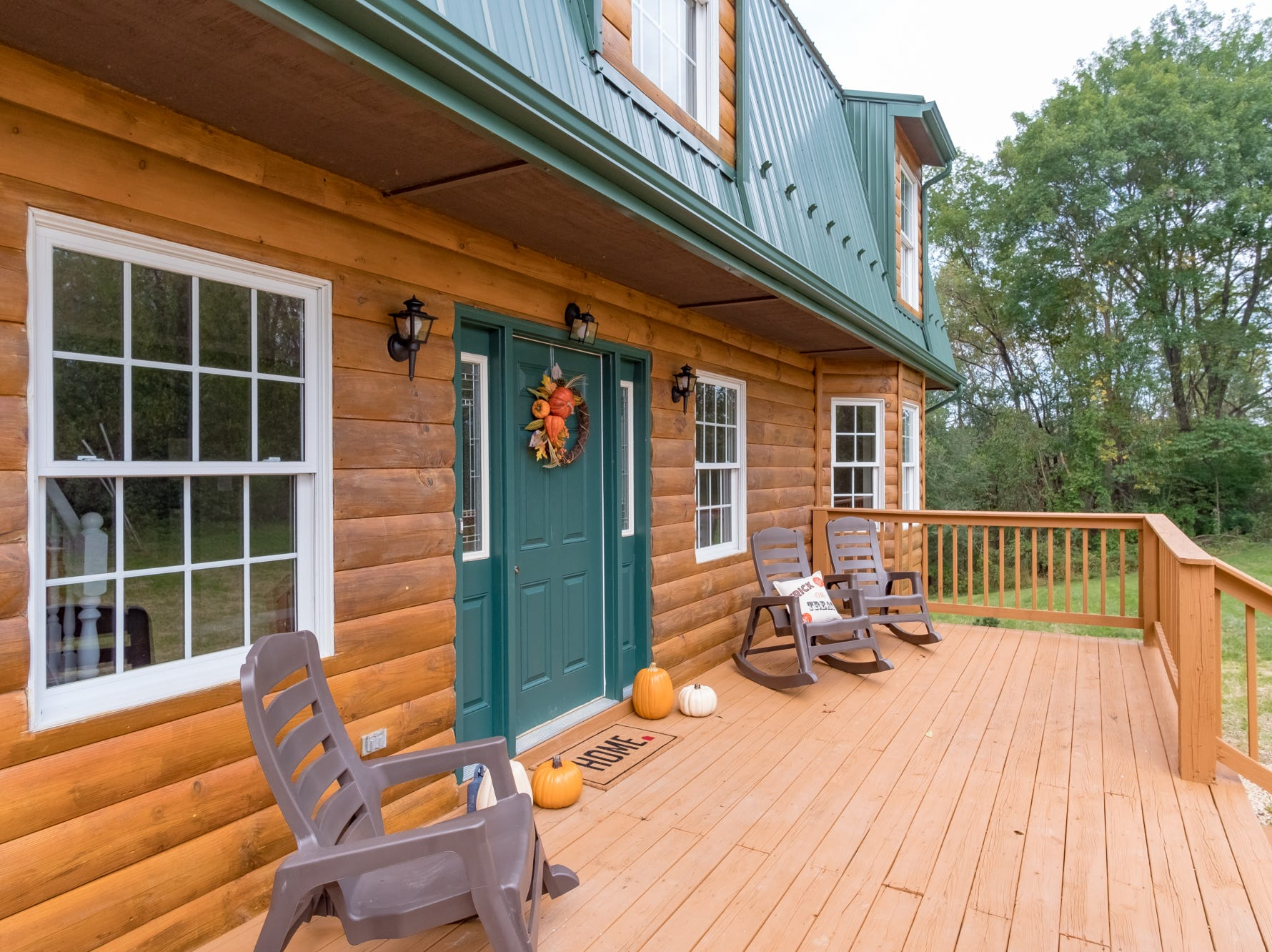 This log home at 11 S. Oak Lane is in the Waynesboro City limits and riverfront with acreage.