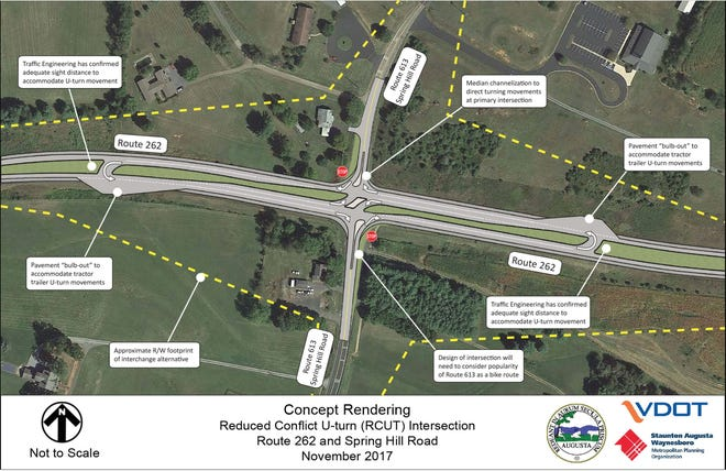 The proposed Va. 262 and Va. 613 intersection project could reduce accident risk in this area.