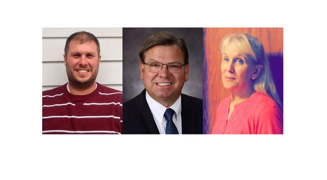 """Eric Becker,  Jeff Meyer and Catherine """"Katie"""" Reiling will be on the ballot for Avon City Council Nov. 6."""