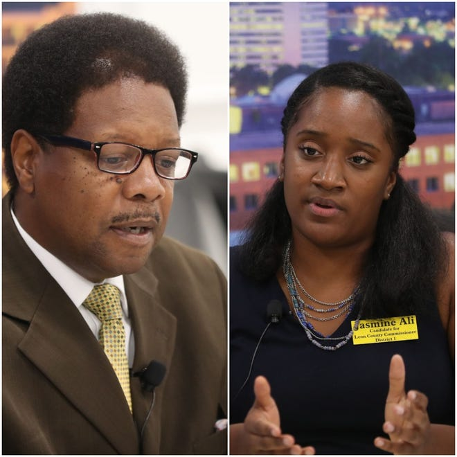 Bill Proctor and Jasmine Ali compete for Leon County Commission District 1 seat.