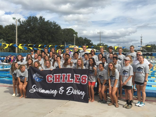 Chiles' boys and girls swimming and diving teams won District 2-3A titles on Monday in Ocala.