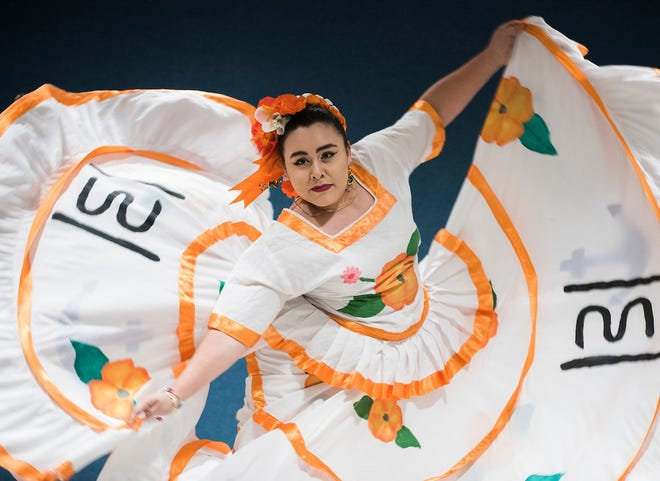 """Doris Campos of Fort Pierce, dances a traditional Sinaloan dance called, """"El Niño Perdido"""" during Cultural Diversity Day last year. IRSC celebrates International Education Week starting Nov. 5. Each year, students participate in the Parade of Nations on Main Campus in Fort Pierce as well as take part in a celebration of cultures in the Koblegard Student Union. Other events include economics panel discussions, the Veteran's Panel discussion at Pruitt Campus in St. Lucie West as well as events at each IRSC branch campuses on the Treasure Coast."""