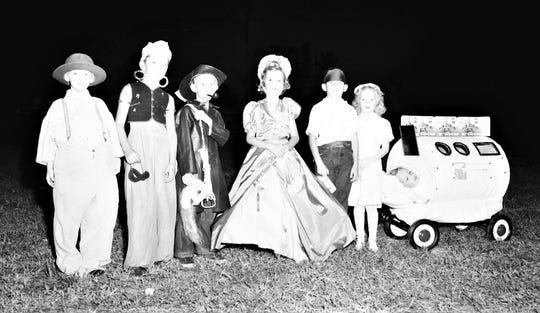Stuart kids attending a Halloween carnival in 1951.