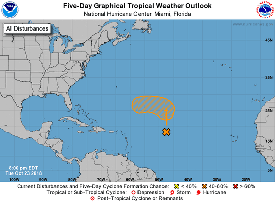 A tropical or subtropical depression could form over the weekend.