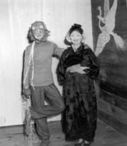 Howard and Adrienne Bartlett at a local Halloween party in the mid-1950s.
