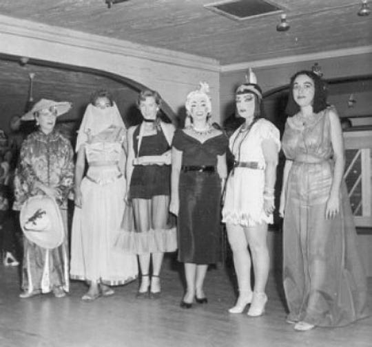 Ladies in Stuart attending a civic group Halloween party.