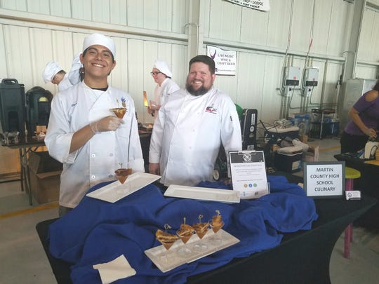The Big Tatse of Martin County award for best presentation went to the Martin County High School culinary team for their creative play on the classic combination of tomato soup and grilled cheese.