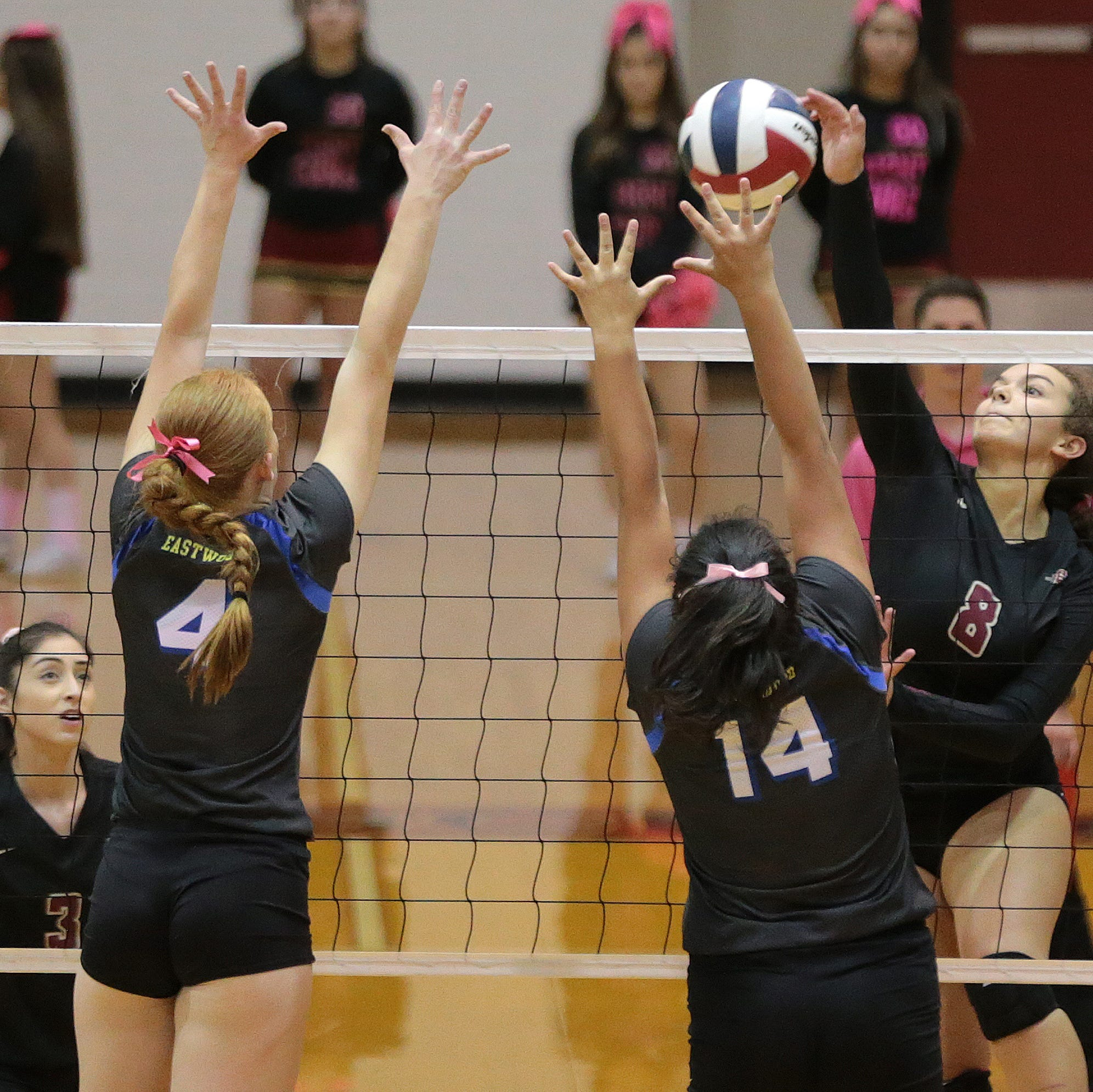 El Dorado Volleyball defeated Eastwood Tuesday night to win district in three straight sets. Had Eastwood won, they would have shared the district title.