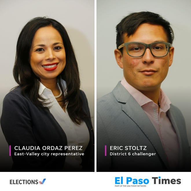 El Paso City Council election, District 6, East-Valley, Claudia Ordaz Perez and Eric Stoltz