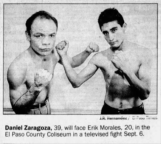 Daniel Zaragoza, 39, will face Erik Morales, 20, in the El Paso County Coliseum in a televised fight Sept. 6.