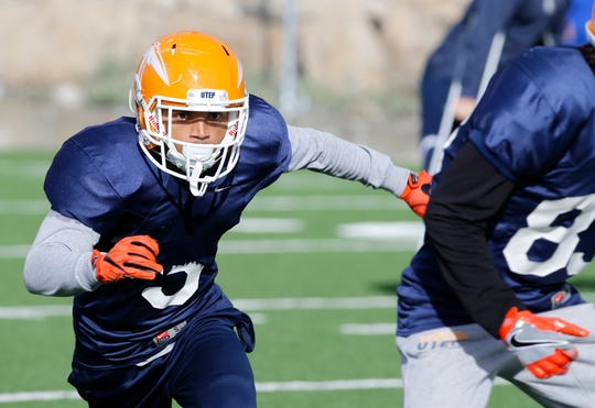 """UTEP wide receiver Kenyan Foster from Lake Stevens, Wash., has risen from obscurity to the edge of something special, which is a reflection of the team. """"I kept pushing. I never tried to make excuses; I just had to keep positive, keep up the energy and stay optimistic,"""" Foster said."""