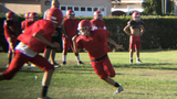 Freshman Jocelyn Contreras has scored three touchdowns for the Hueneme High frosh-soph football team