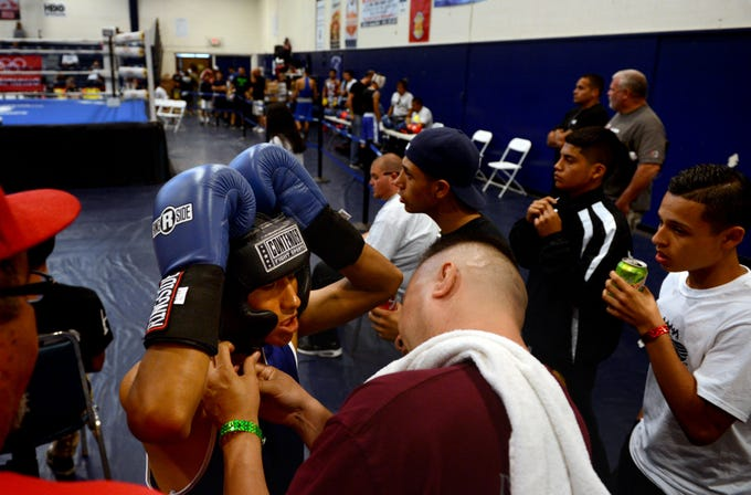 A scene from the 42nd Annual National PAL Boxing Championships is seen in this 2016 photo. The La Colonia boxing program was started with the help of Bedford Pinkard.