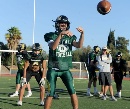 Sophomore quarterback Tanner Wolfe has made big strides during the season and has the chance to help the Highlanders win the Canyon League title.