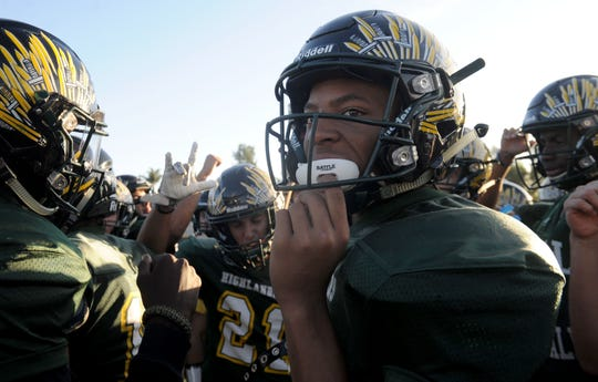 John Moore has been one of the standouts for Royal this season. The Highlanders will go for the Canyon League title when it hosts rival Simi Valley on Friday night.