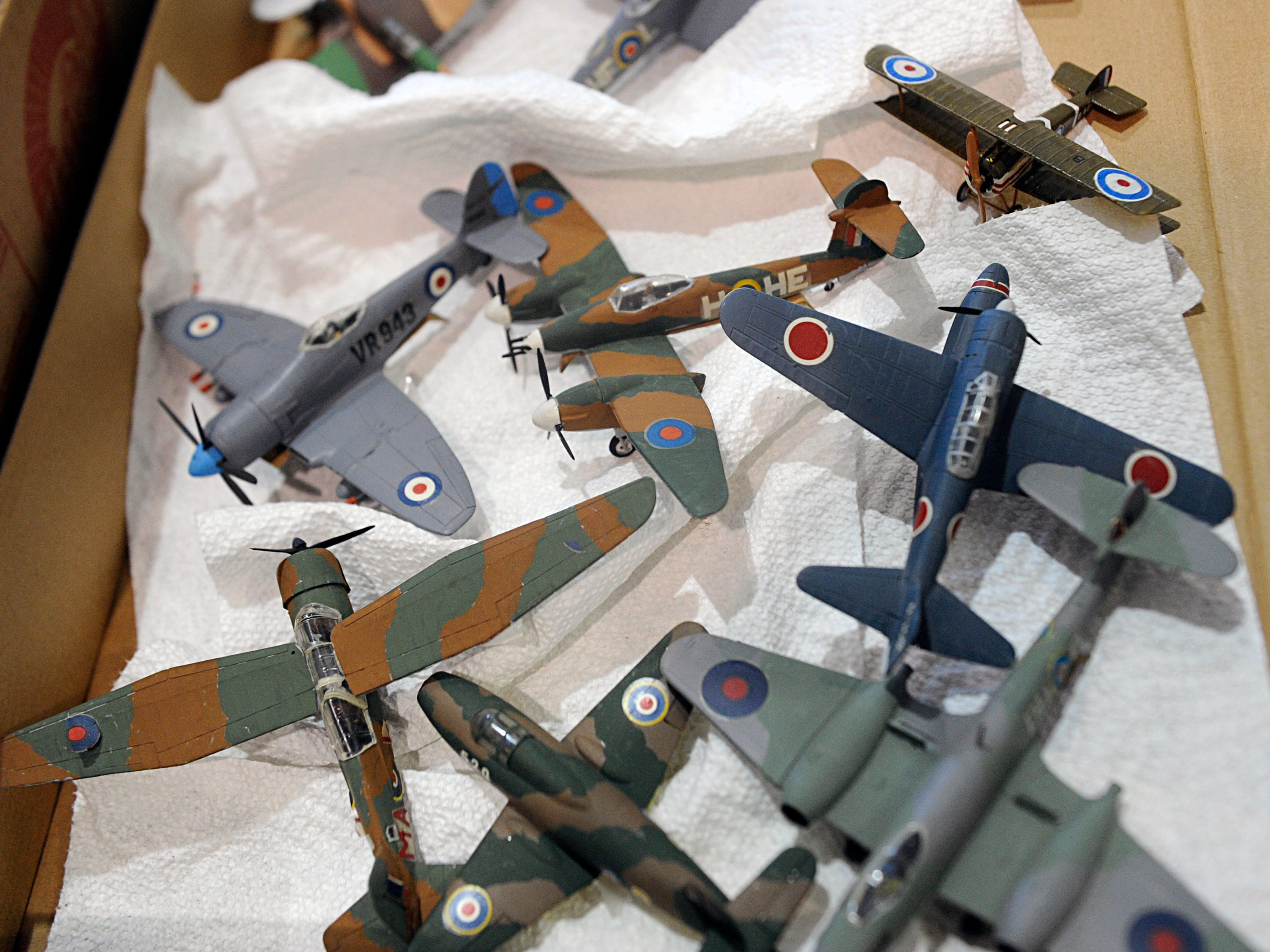 Historic military items were on display before being auctioned off at the Millville Municipal Airport on Wednesday, October 24, 2018.