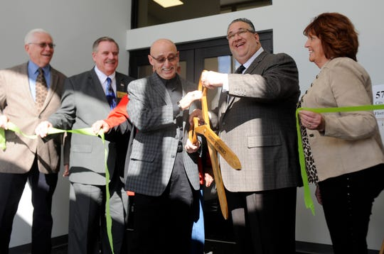 Vineland officials along with members of the Cumberland County Improvement Authority cut the ribbon on a new public works facility Wednesday.