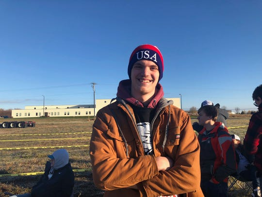 Jacob Spaeth, 18, of Hudson drove down with friends from college on Wednesday morning. He's a Trump fan, but also interested in seeing if any protesters show up for the rally, he said.