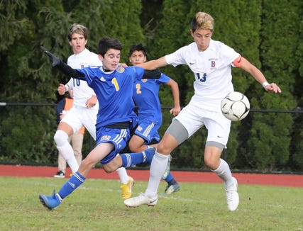 Briarcliff beat Ardsley 2-1 in a Section 1 Class B boys soccer semifinal at Ardsley Oct. 24, 2018.