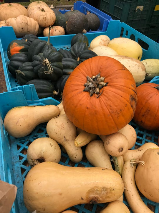 Fall flavors from Dutchess-based Sprout Creek Farm, at the Hastings Farmers Market.