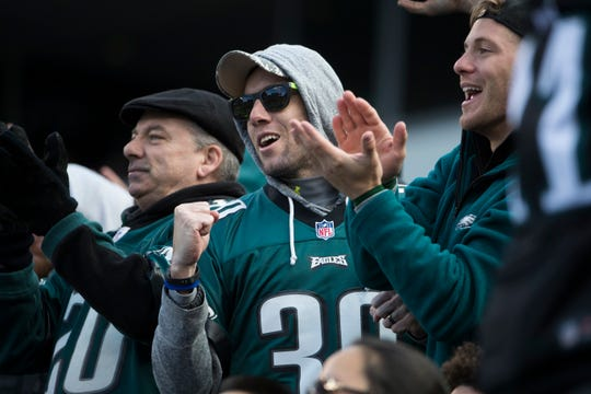 Eagles fans enjoy the game as the Eagles face the Carolina Panthers Sunday, Oct. 20, 2018 at Lincoln Financial Field.