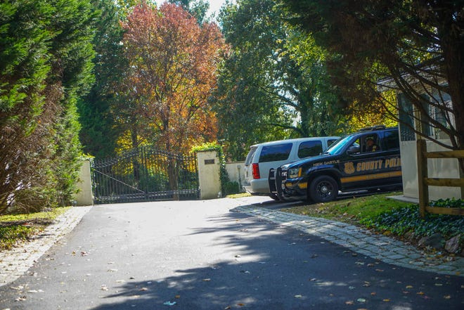 Police remain outside of former Vice President Joe Biden's Greenville home Wednesday after suspicious packages were sent to homes of top Democratic leaders. New Castle County police said they found no such parcel delivered to Biden.