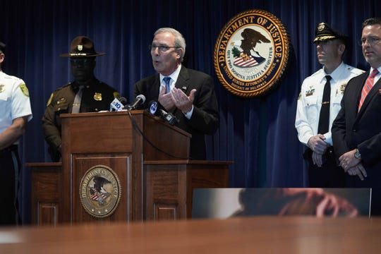 U.S. Attorney David C. Weiss speaks at a press conference  announcing a distribution of heroin resulting in a death Indictment. Robin Cintron-Pratts, has been federally indicted on drug charges.A fentanyl overdose that killed 28-year-old Joel Davis  last year, can be traced back to Robin Cintron-Pratts.