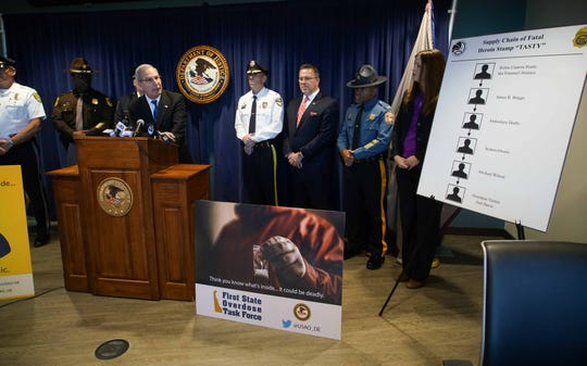 U.S. Attorney David C. Weiss review the links to a fentanyl overdose that killed 28-year-old Joel Davis  last year stemming from Robin Cintron-Pratts, who has been federally indicted on drug charges.