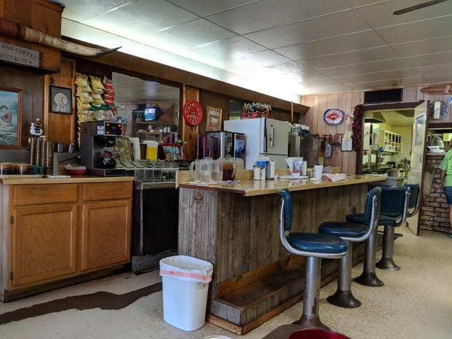 Inside City Cafe in Iowa Park.