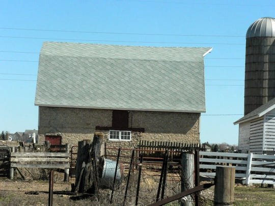 A barn holding about eight cows. A relic from the 1800s.