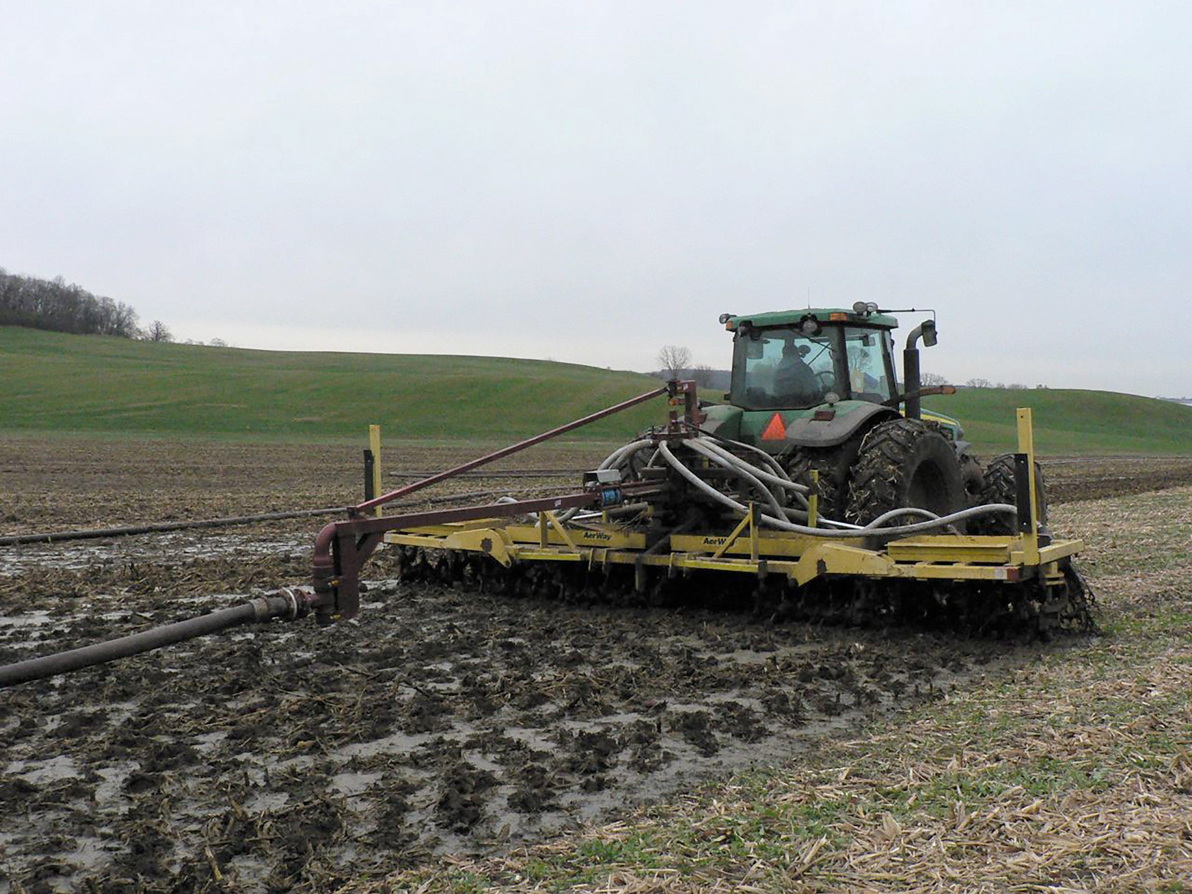 Manure from mega dairies is often drilled into the soil to prevent pollution.