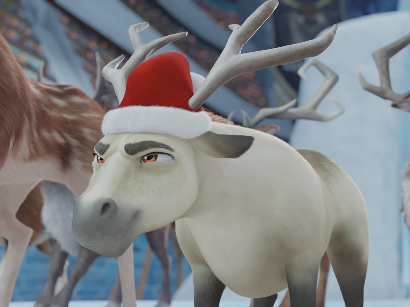 "Elliot (voiced by Josh Hutcherson) is a miniature horse who travels to the North Pole to compete for a coveted spot to pull Santa's sleigh in ""Elliot: The Littlest Reindeer."""