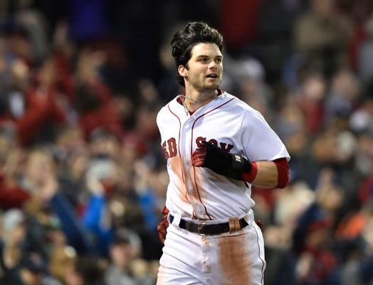best sneakers 24484 25d03 Andrew Benintendi: 4 hits, 3 runs for Red Sox in 1st World ...